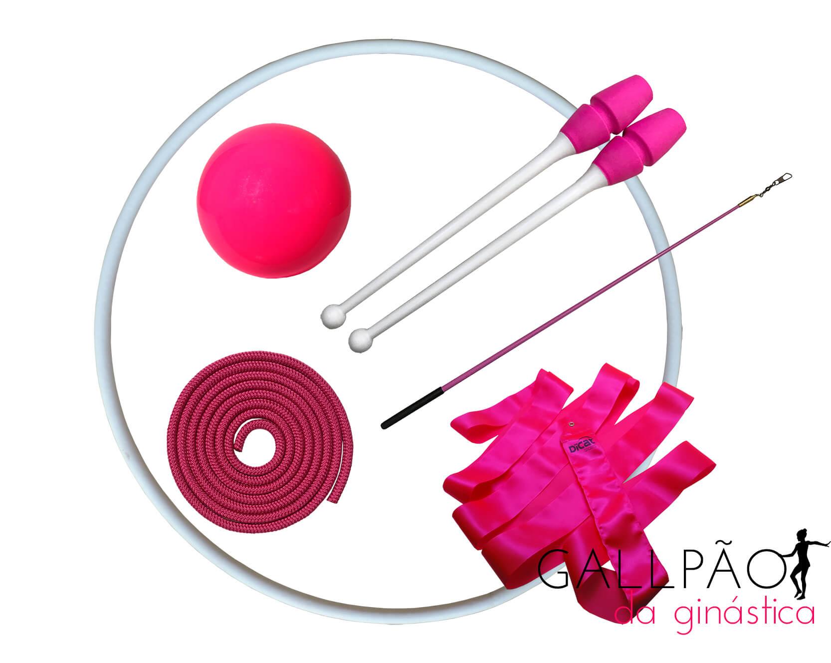 """Kit Ginástica Rítmica Pink """"ADULTO"""""""