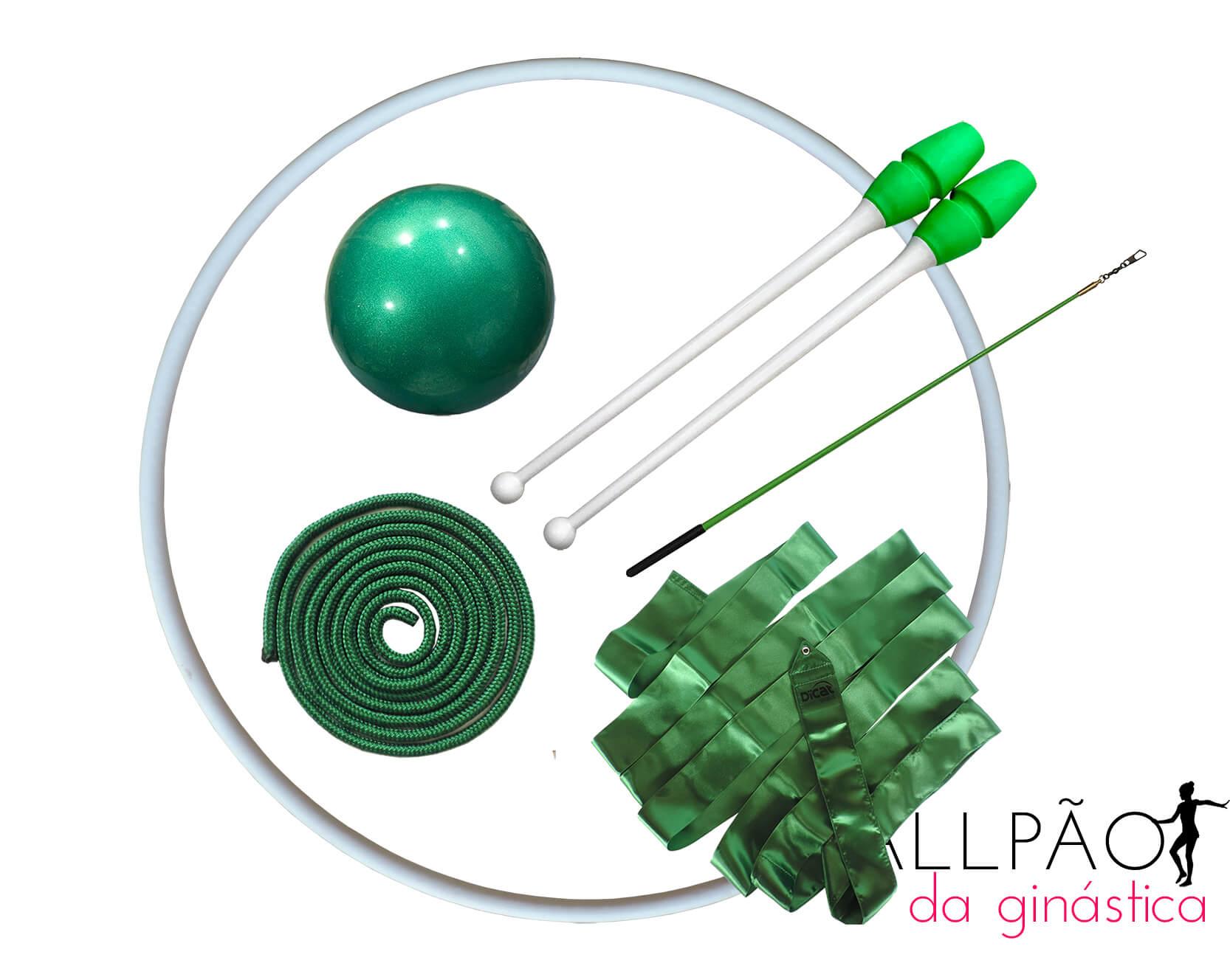 "Kit Ginástica Rítmica Verde ""ADULTO"""
