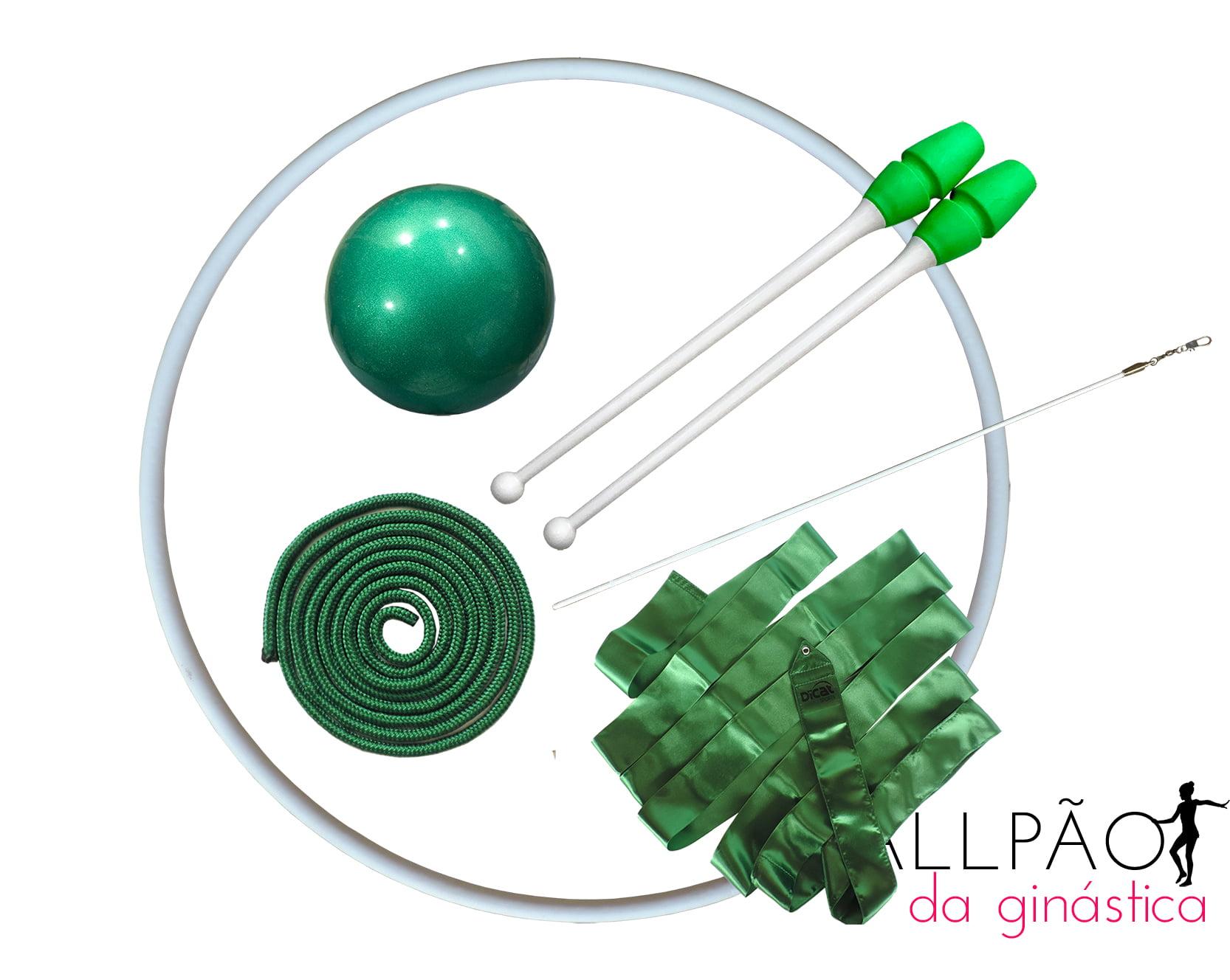 "Kit Ginástica Rítmica Verde ""MIRIM"""