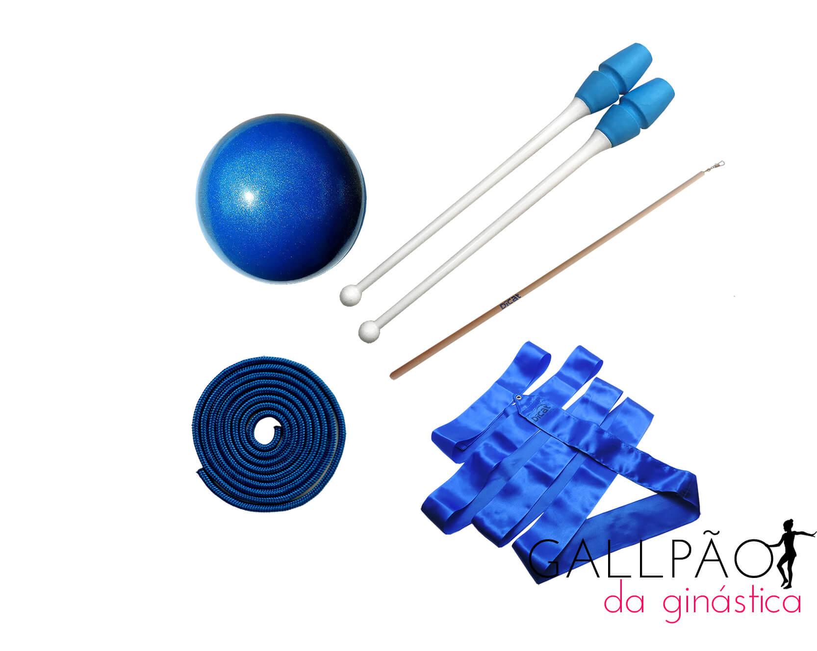 "Kit Ginástica Rítmica Azul ""BABY"" (SEM ARCO)"