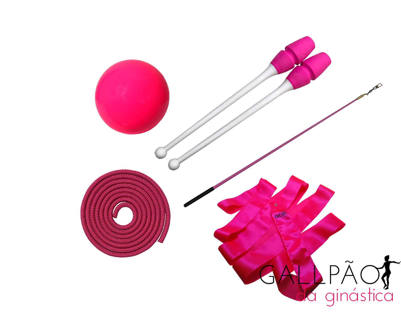 "Kit Ginástica Rítmica Pink ""INFANTIL"" (SEM ARCO)"