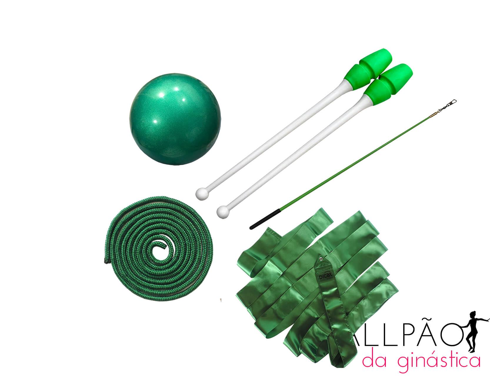 "Kit Ginástica Rítmica Verde ""JUVENIL"" (SEM ARCO)"