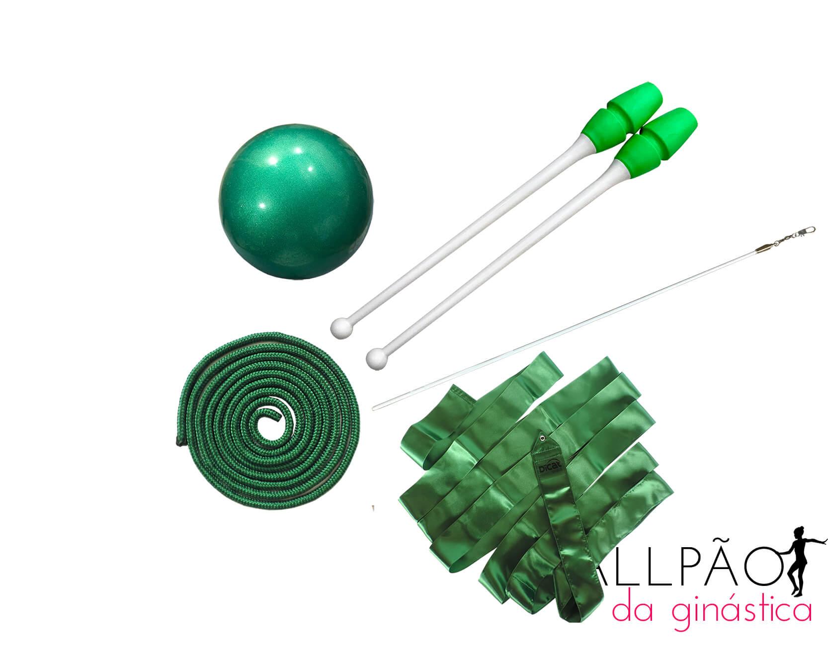 "Kit Ginástica Rítmica Verde ""MIRIM"" (SEM ARCO)"