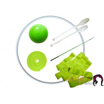Kit Ginástica Rítmica Verde Fluorescente