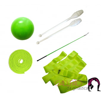 Kit Ginástica Rítmica Verde Fluorescente - SEM ARCO