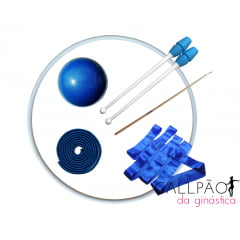 "Kit Ginástica Rítmica Azul ""BABY"""