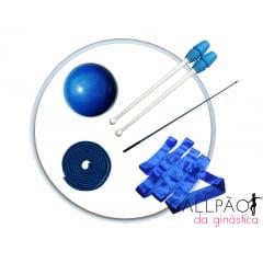 """Kit Ginástica Rítmica Azul """"JUVENIL"""""""