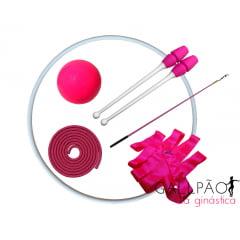 "Kit Ginástica Rítmica Pink ""INFANTIL"""