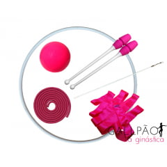"""Kit Ginástica Rítmica Pink """"MIRIM"""""""