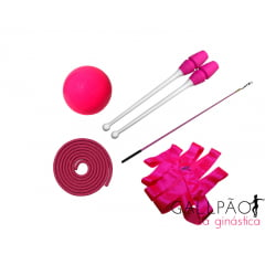 "Kit Ginástica Rítmica Pink ""ADULTO"" (SEM ARCO)"