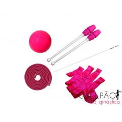 """Kit Ginástica Rítmica Pink """"MIRIM"""" (SEM ARCO)"""